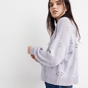 {Madewell} Floral Pointielle Pullover sweater